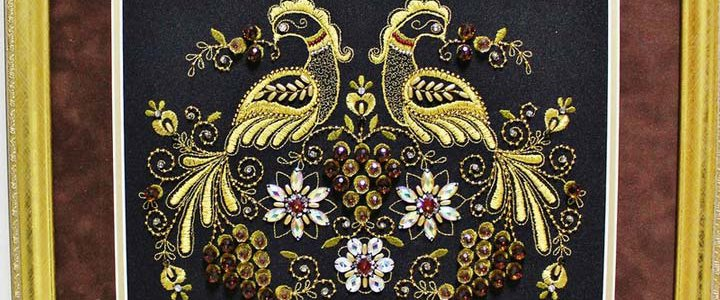 Golden embroidery image