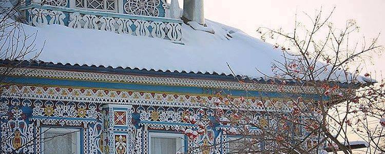 Typical rural Russian homes image