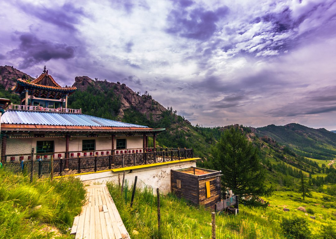 The Aryabal Buddhist temple at the Terelj National Park image