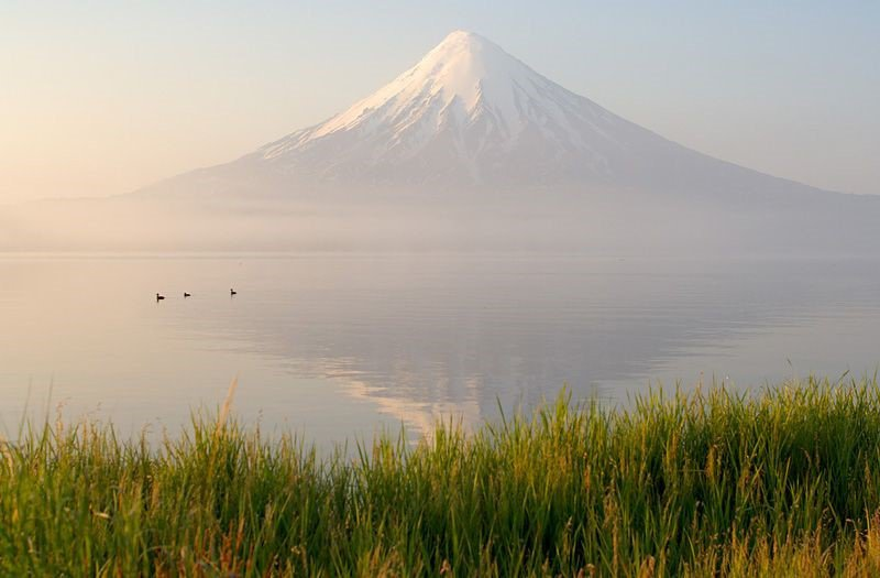 Kronotsky Volcano and Lake image