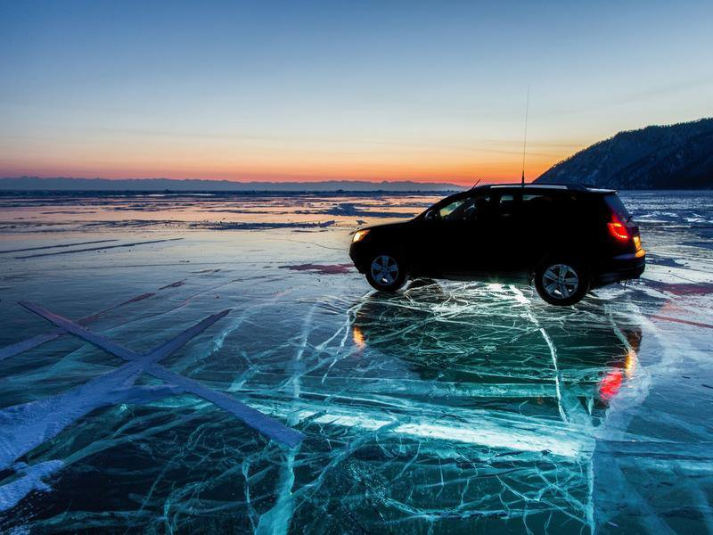 Winter ice of Lake Baikal image