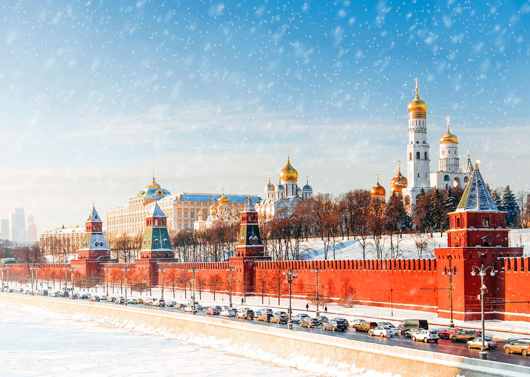 The Red Square and the Kremlin in winter image