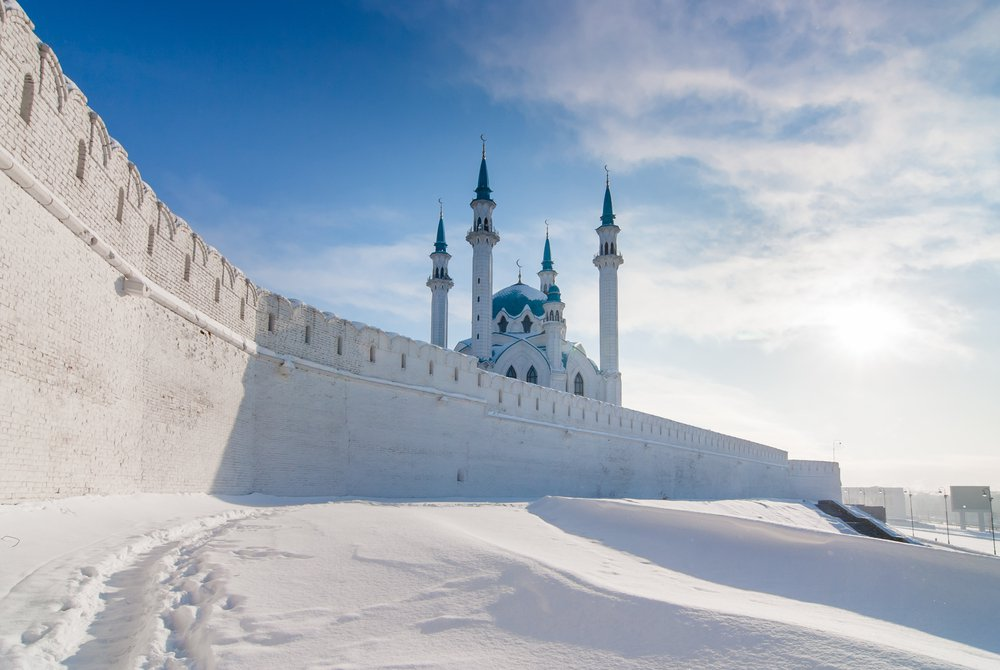 The walls of the Kazan Kremlin image