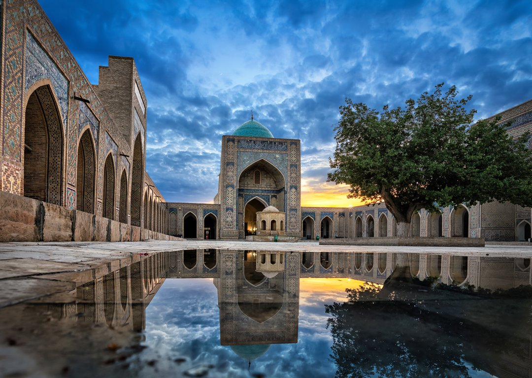 INNER COURTYARD OF THE KALYAN MOSQUE, BUKHARA image