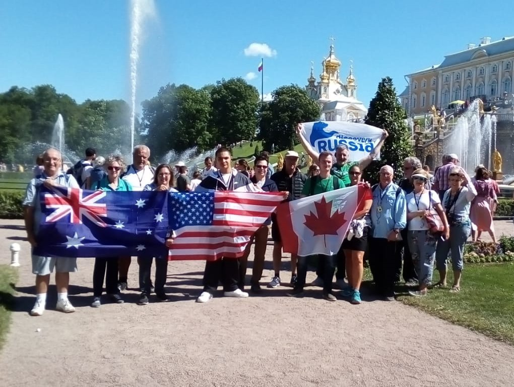 Our guests near the Royal Peterhof Palace image