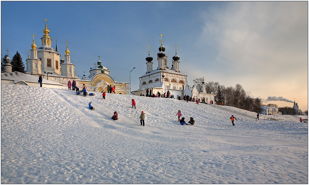 Russian winter fun image
