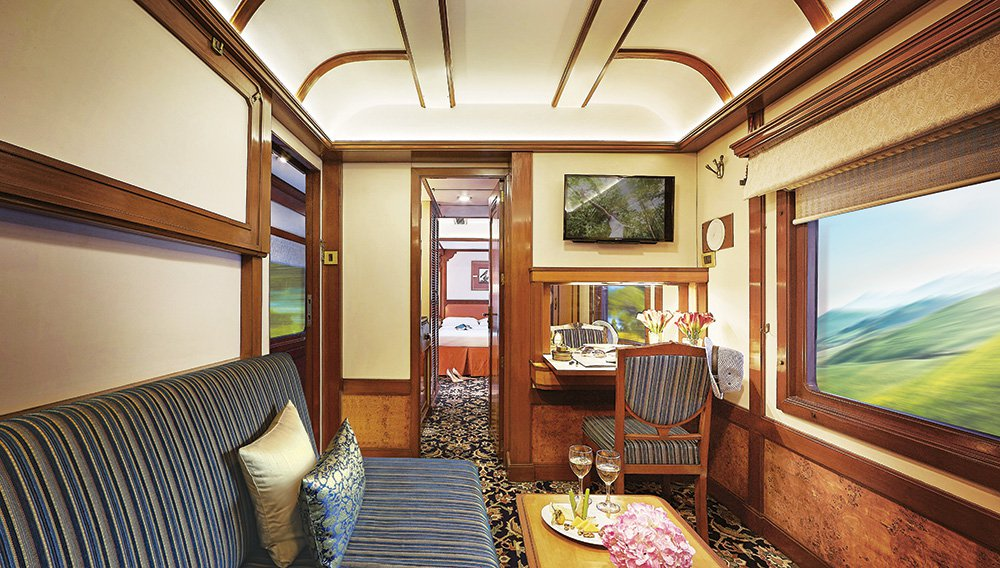On board the train image