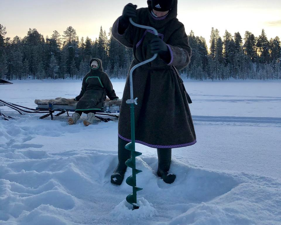 Ice fishing image