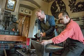 Local blacksmith & a tourist image