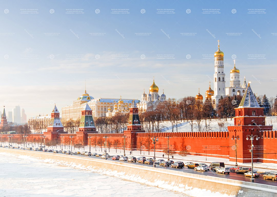 Moscow in winter image