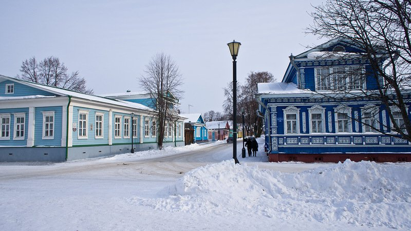 Gorodets in winter image