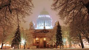 St Isaac  Cathedral in winter image
