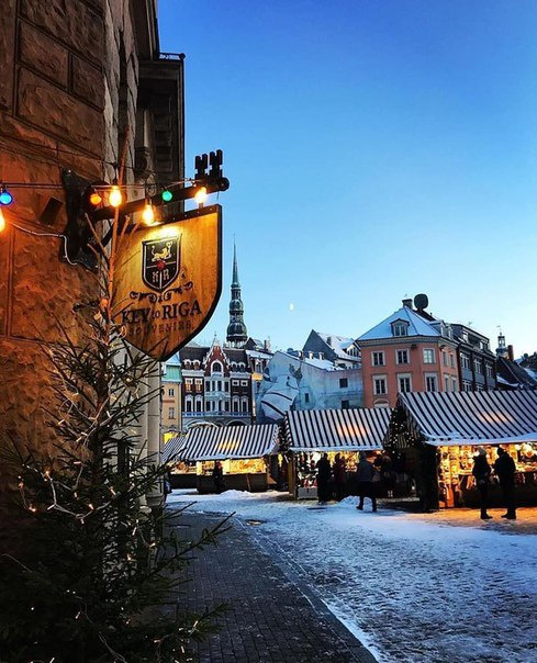 Riga in winter image