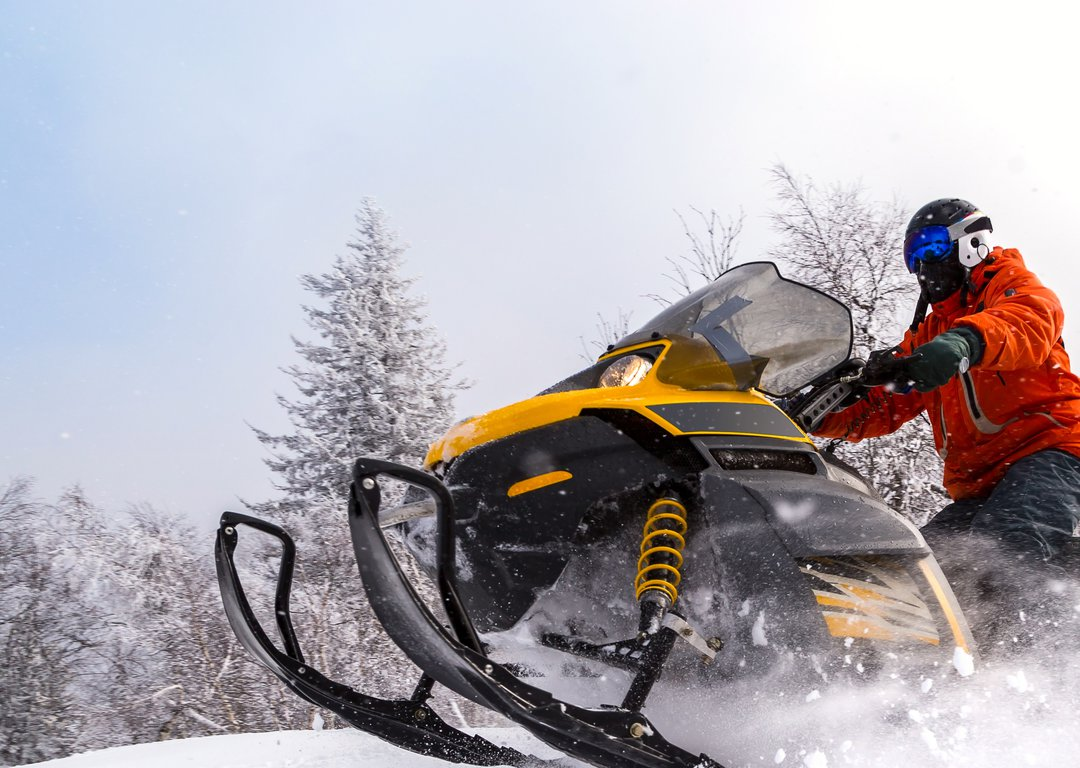 Snowmobile journey image