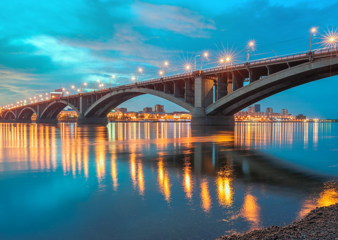 THE BRIDGE OVER THE YENISEI RIVER image