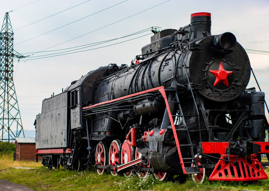 Old Russian Train image