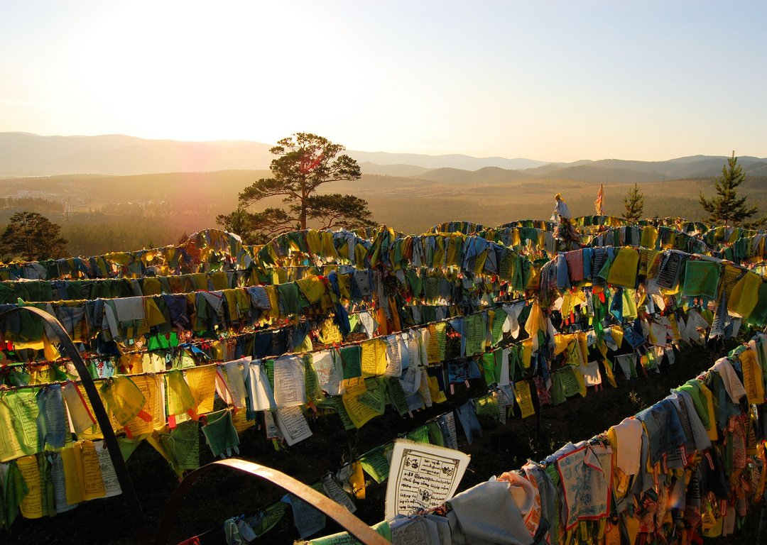 Flags in Ivolginsky Datsan image