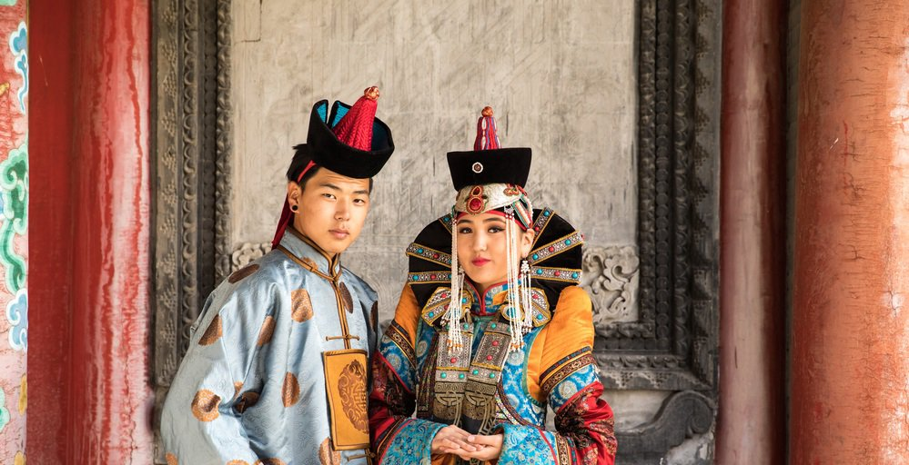 Mongolian couple image